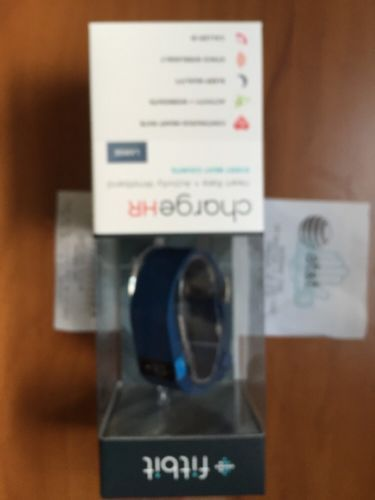 new Fitbit Charge HR Activity Wristband - Large - Blue - SEALED BOX - Receipt - http://sports.goshoppins.com/exercise-fitness-equipment/new-fitbit-charge-hr-activity-wristband-large-blue-sealed-box-receipt/