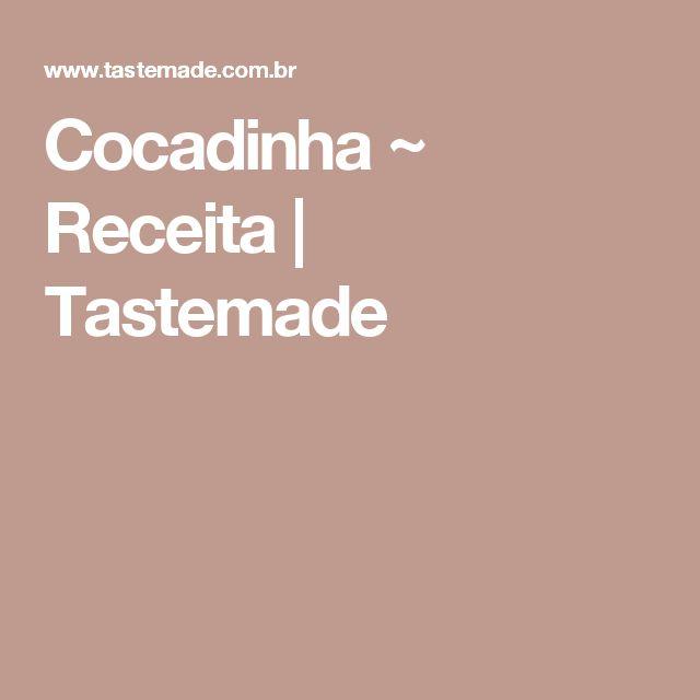 Cocadinha ~ Receita | Tastemade