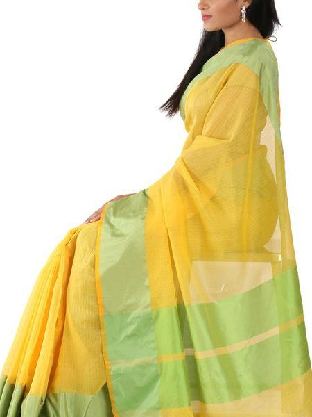 Lime-Yellow Saree