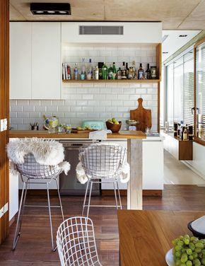Las 25 mejores ideas sobre barra desayunadora en for Mesa apoyo cocina