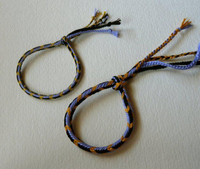 Браслеты - вышивка нитью, fingerloop оплетка, учебник, инструкции