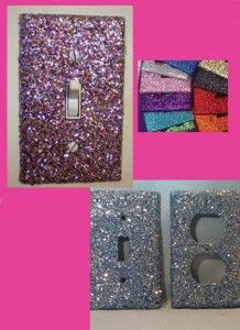 DIY Glitter Outlets And Light Switch Panels. Find This Pin And More On Teen  Bedroom Ideas ...