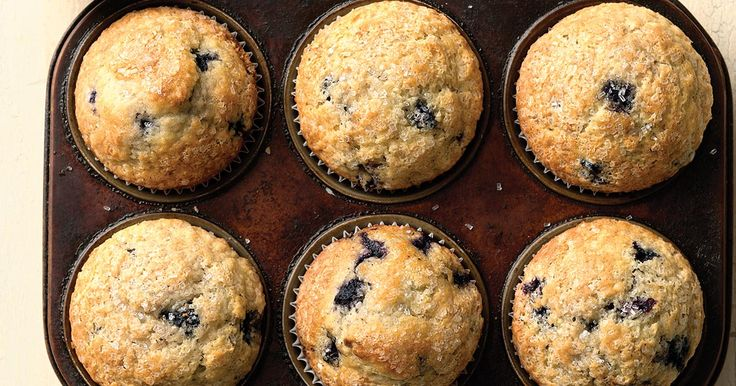 These tender, tasty, fruit-filled muffins — made with self-rising flour — go together in a snap.