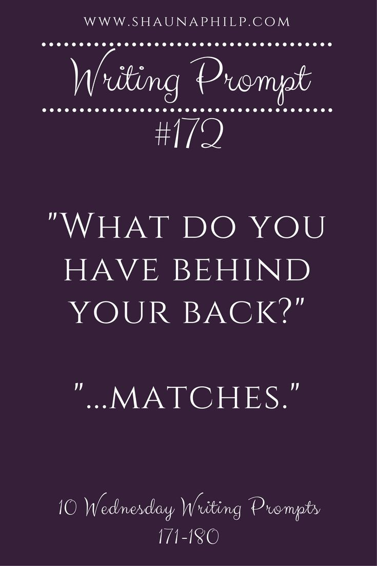 Bonus writing prompt: What is the character planning on doing with the matches?