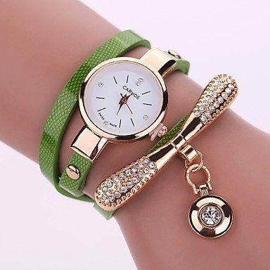 Modieuze dames horloge met groen goud kleur kwarts
