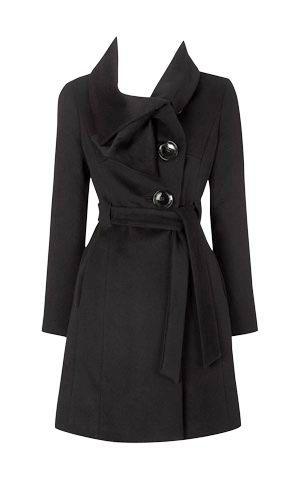 Karen Millen Cute 1940s Coat Black