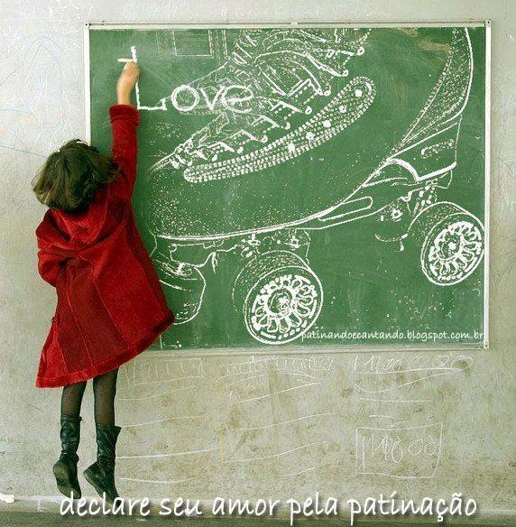 Declare seu amor pela patinação