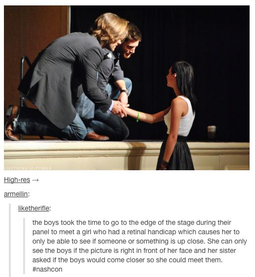 Awesome! This is just one of the many reasons I love Jensen and Jared!!