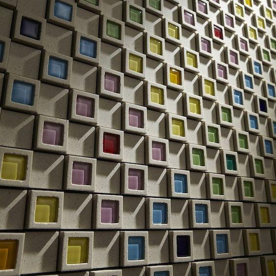 Teruo yasuda dent cube tile concrete pinterest for Carrelage exterieur mural