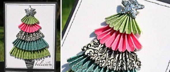 christmas tree card: Trees Cards, Cute Cards, Cards Ideas, Handmade Cards, Christmas Crat For Kids, Christmas Decor Crafts, Christmas Trees, Christmas Ideas, Handmade Christmas Cards