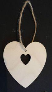 Wooden Heart in a Heart Gift