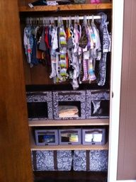 Baby closet organized with thirty one products http://www.mythirtyone.com/chelsea31
