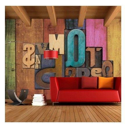 lettere in legno su pareti - Cerca con Google