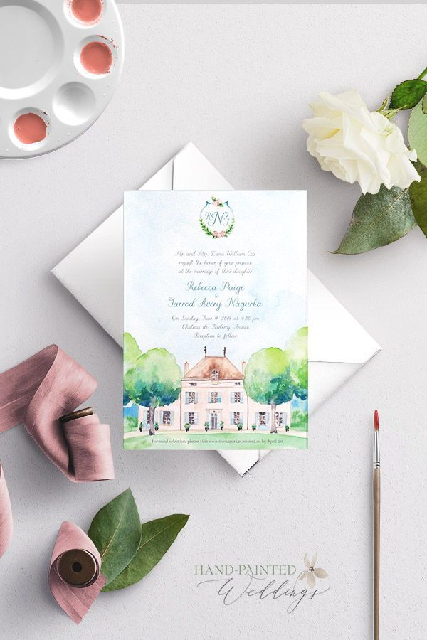 Chateau De Barbirey France Wedding Invitation In 2020 Wedding