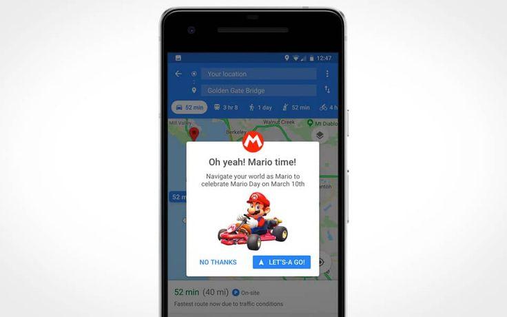 Nu kan Super Mario guide dig rundt i Google Maps