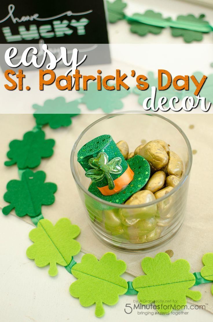 Easy St. Patrick's Day DIY Decor - St Patricks Day Craft #stpatricksday