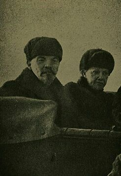 Lenin and Krupskaya A Parade on Red Square, May 1, 1918