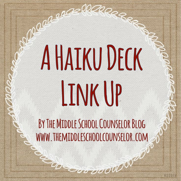 A Haiku Deck is an online presentation maker program.  Very useful for school counselors.  Read the blog to see how other school counselors use Haiku Deck in their counseling program.