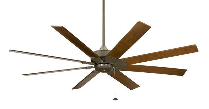 "Fanimation FP7910-220 63"" 8 Blade 220V FanSync Compatible Commercial Ceiling Fan Oil-Rubbed Bronze Fans Ceiling Fans Indoor Ceiling Fans"