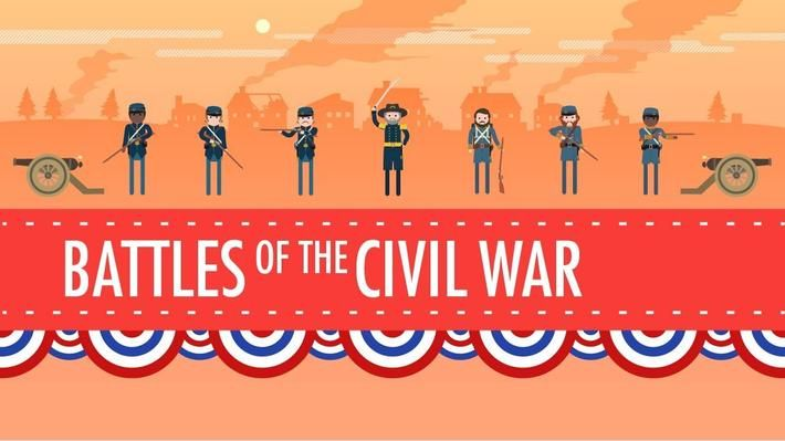 Give your class an overview of every major battle in the Civil War with this episode of Crash Course – all in seven and a half minutes!