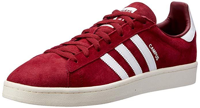 Adidas Campus Schuhe Herren Rot Burgundy Mit Weissen Streifen Schuhe Herren Sneakers Mode Adidas