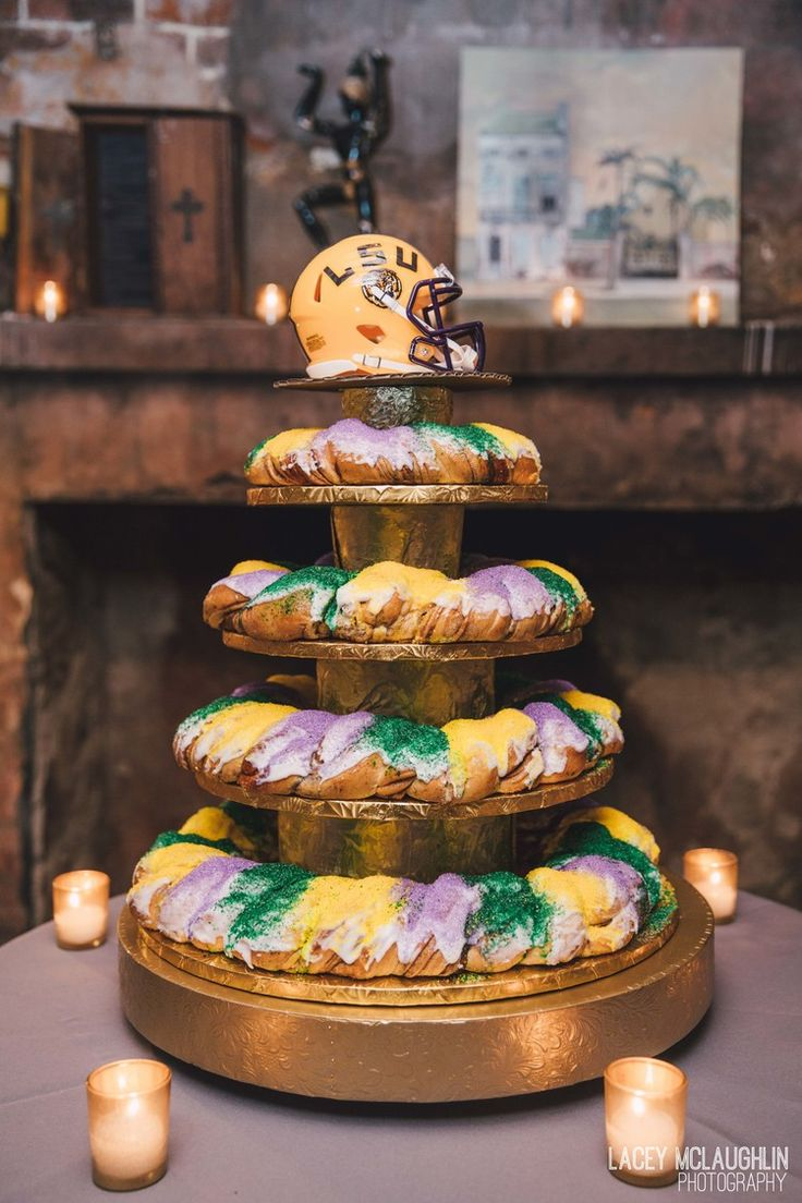 King Cake for the Groom's cake, only in New Orleans ...