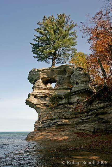 Portofolio Fotografi Pemandangan - Chapel Rock, Pictured Rocks Lakeshore  #PHOTOGRAPHICSCENERY