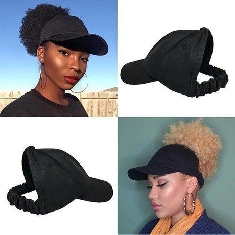 Satin Lined Baseball Cap, Satin bonnet , scrunchie, hats for natural hair, satin hair cap , Backless Hat, Curl cap   – Peinados