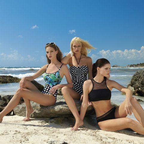 Sunflair SS 18 Collection - Mastecomy Bikini and Polka Dot one piece.