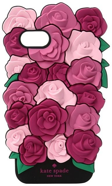 Kate Spade New York - Silicone Roses Phone Case for iPhone 7 Cell Phone Case