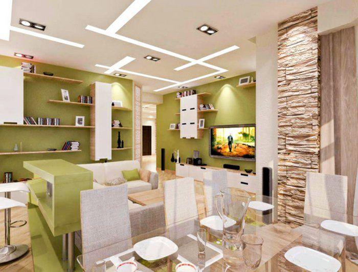 stone look Wall Stone Wall indoor living room furnishing ideas 4