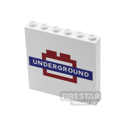 Printed Panel 1x6x5 - Brick Underground Sign