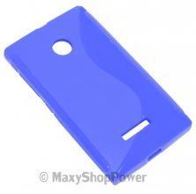 SSYL S-LINE CUSTODIA TPU SILICONE BACK COVER CASE BLU BLUE MICROSOFT LUMIA 532 / DUAL SIM - SU WWW.MAXYSHOPPOWER.COM
