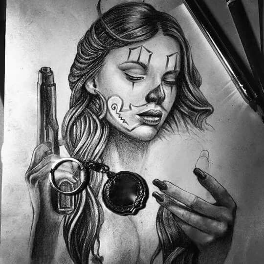 171 best images about dvm on pinterest pencil drawings for Chicano clown girl tattoos
