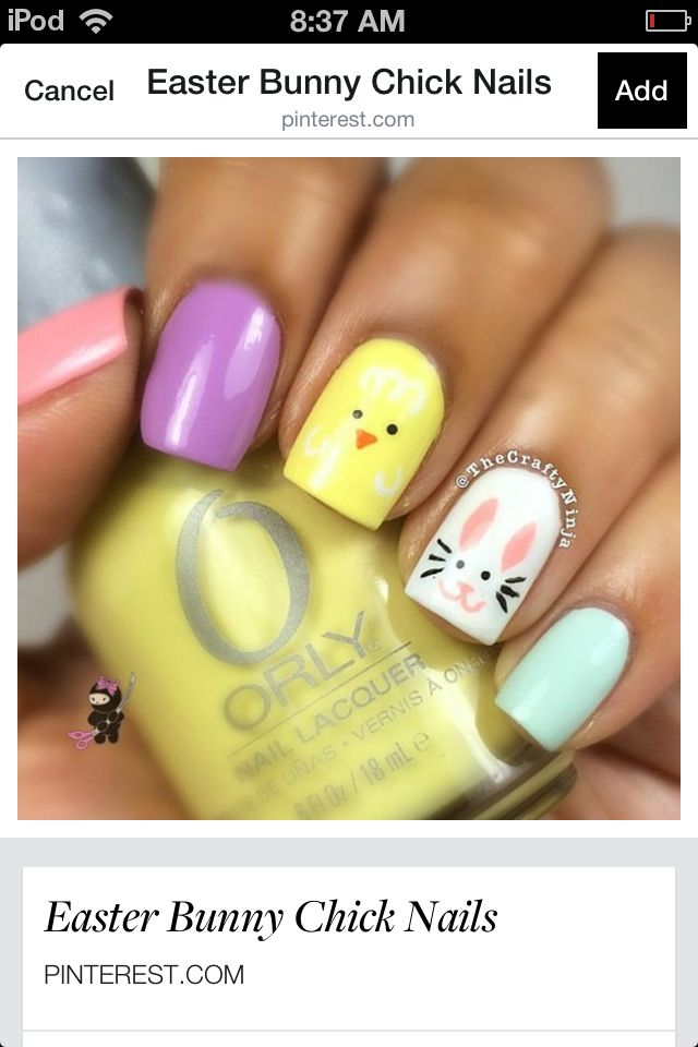 Easter nails!! A little late for them! But oh well lol!