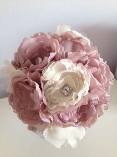 Fabric flower Bouquets - Forever button bouquets
