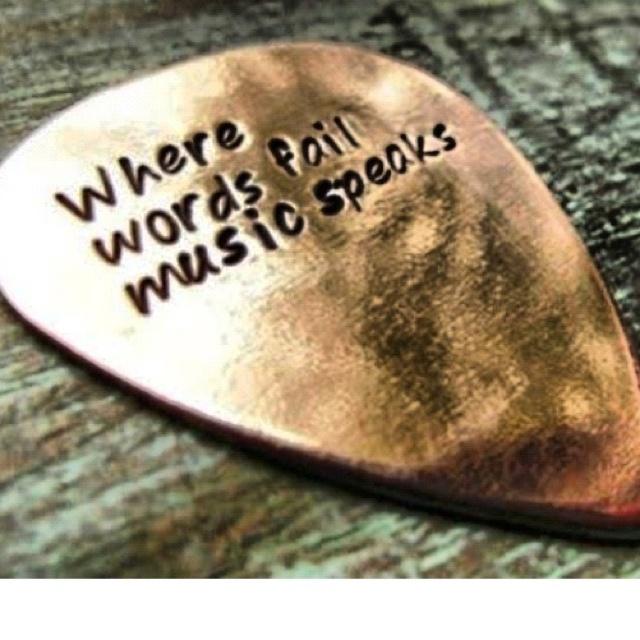 Where words fail .... Music speaks .... Guitar Pick ..... Yngwie Malmsteen Joe Satriani Steve Vai Paul Gilbert Eddie Van Halen Randy Rhoads Ibanez Fender Gibson Stratocaster Les Paul