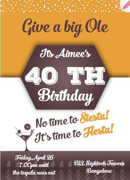 18 best milestone birthday invitations images on pinterest invitation card for 40th birthday party filmwisefo