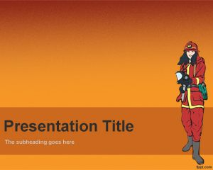Fireman PowerPoint template is a free firefighter background that you can use for fire department presentations or anything related with fire