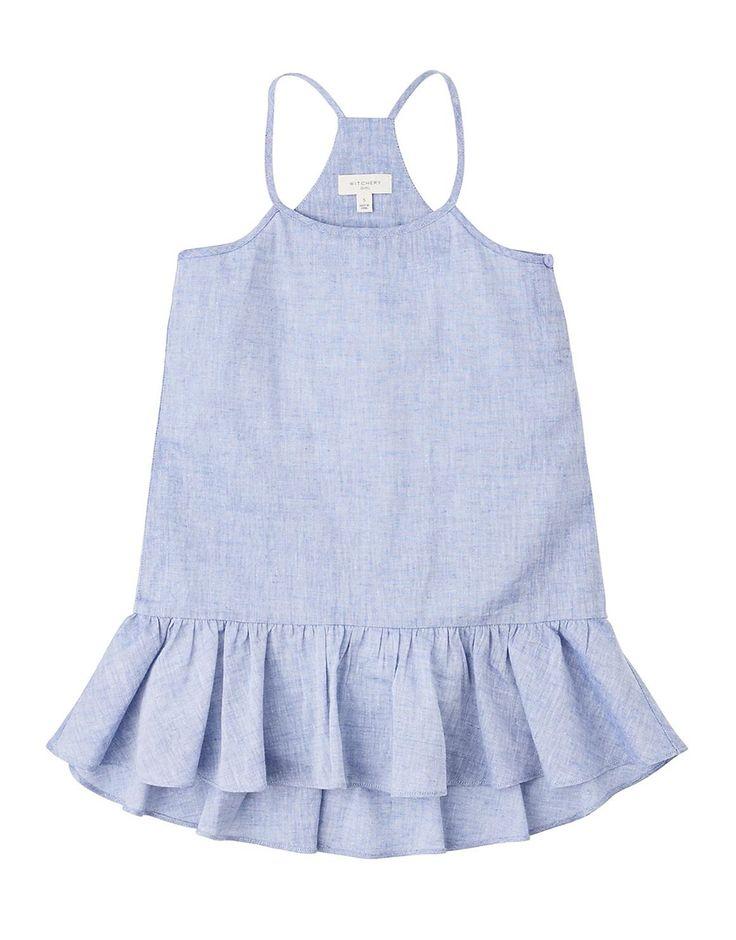 Chambray Frill Dress
