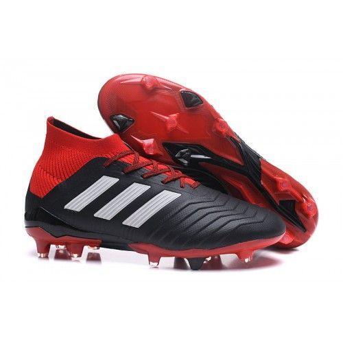 big sale 796d0 116ef botas de futbol con tobillera Outlet adidas Predator 18.1 FG Negras Rojas  Blancas Botines Adidas,