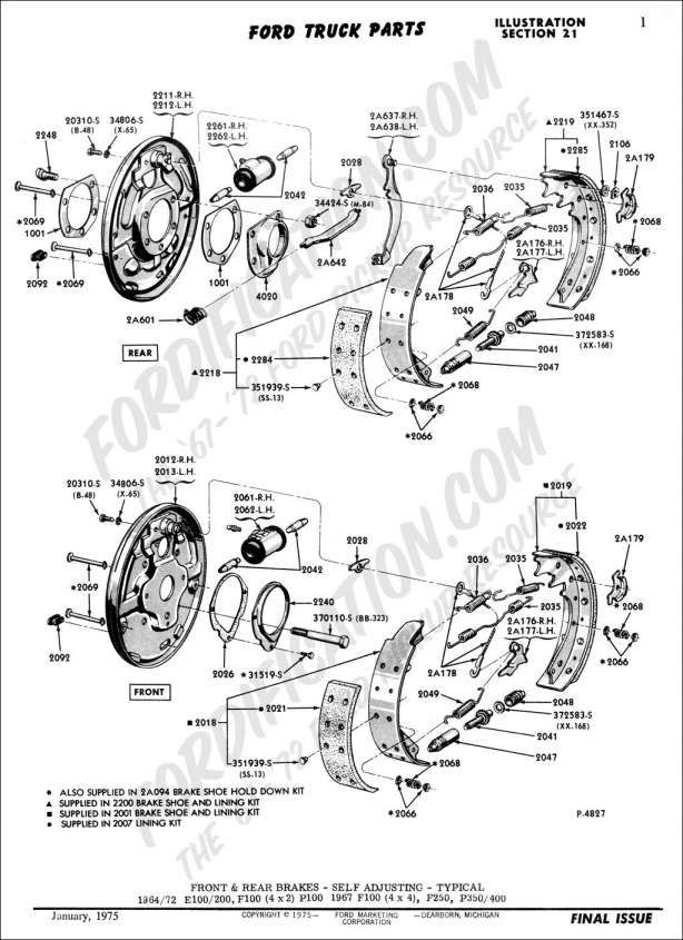 16 1995 F700 Ford Truck Braking Parts Diagram Truck Diagram