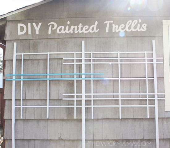 Click in and follow the steps from Better Homes and Gardens to build a DIY painted trellis. Set up in your garden or yard to grow plants on it for the spring.