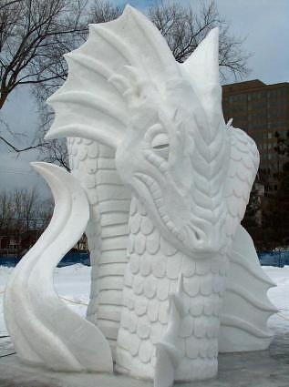 Awesome snow sculpture
