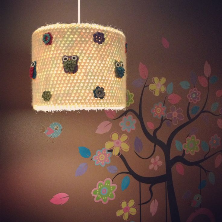 Crocheted lampshade for my babygirls nursery