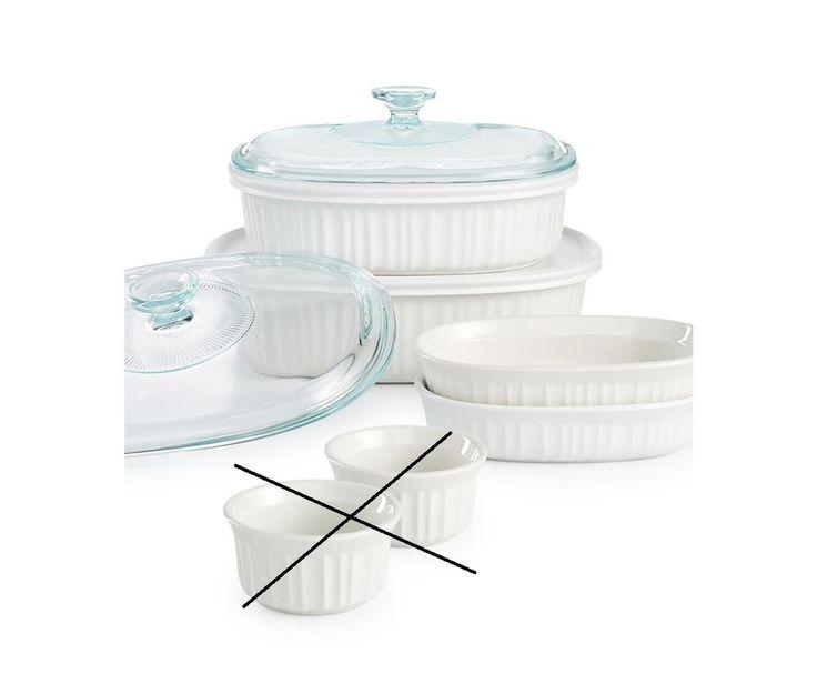 Corningware French White 8 Piece Stoneware Bakeware Set 1117404 #CorningWare
