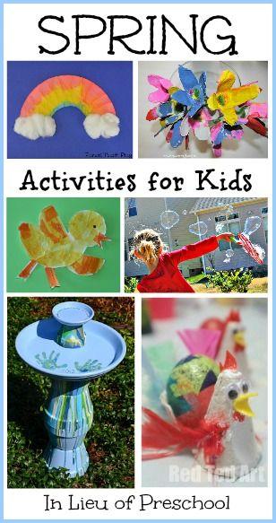 18 Spring Activities for Kids from In Lieu of Preschool