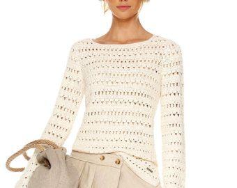 Crochet Tunic PATTERN for sizes XS-5XL Crochet Pullover