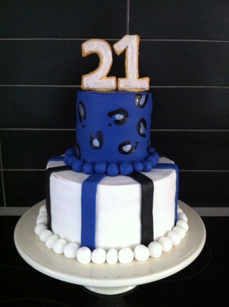 Purple leopard print 21st cake - 2013