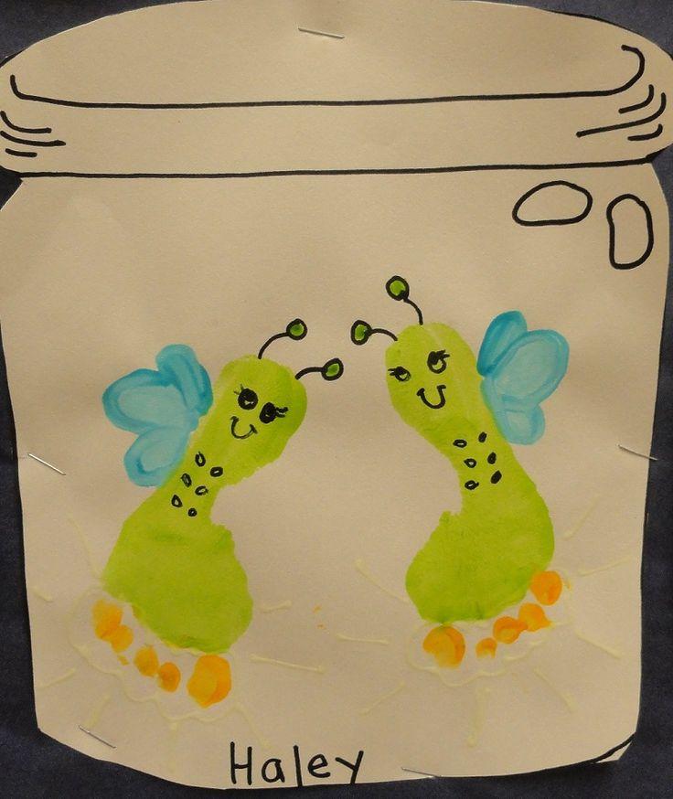 Foot print Fireflies in a Jar - Candra Faulkner